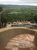 Landgoed in Wimberley die meningen van Texas Hill Country overzien stock afbeeldingen