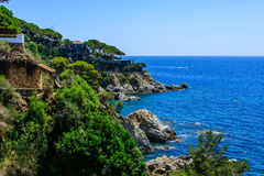 Landgoederen Costa Brava Royalty-vrije Stock Afbeelding