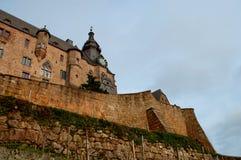 Landgrafen城堡在马尔堡 库存照片