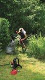 Landhäuschen-Garten gardene Stockfoto