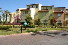 Landhäuser im Hotel. Stockfotografie