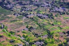 Landhäuser punktiert stockbild