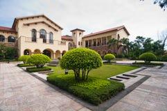 Landhäuser und Gärten Stockfoto
