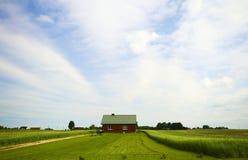 Landhaus auf dem Gebiet Stockfotografie