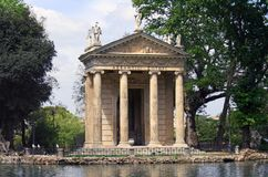 Landhaus Borghese, der Tempel von Aesculapius Stockfoto