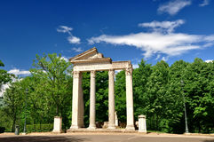 Landhaus Borghese Gärten stockfotografie