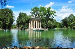 Landhaus Borghese-Park lizenzfreies stockbild
