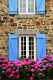 Landhaus in Bretagne lizenzfreie stockfotos