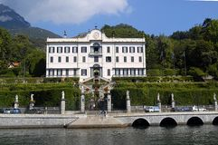 Landhaus Carlotta vom See Como stockbilder