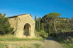 Landhaus in Cortona Stockfotos