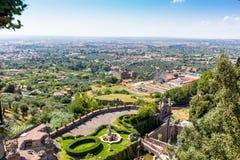 Landhaus d'este Park in Tivoli, Lazio, Italien Lizenzfreie Stockfotos