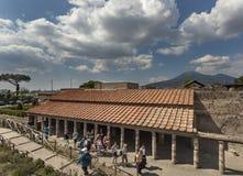Landhaus dei misteri, Pompeji Stockfotografie