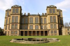 Landhaus Hardwick Hall Elizabethan Derbyshire Stockfotografie