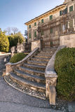 Landhaus Pignatti-Morano ist ein dreistöckiges Landhaus des 17. Jahrhunderts lizenzfreies stockbild