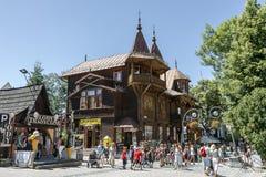 Landhaus Poraj in Zakopane Stockbilder
