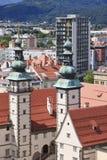 Landhaus visto de la iglesia del St Egyd, Klagenfurt Fotos de archivo libres de regalías