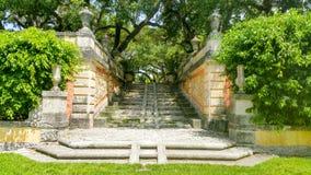 Landhaus Vizcaya-Garten Lizenzfreie Stockbilder