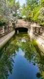 Landhaus Vizcaya-Garten Stockfoto