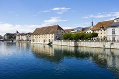 Landhausen i Solothurn, Schweiz Royaltyfri Bild