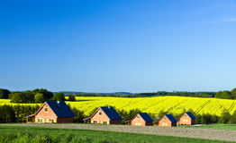Landhauslandschaft Stockfotos