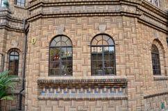 Landhausnahaufnahmefenster Stockfotos