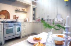 Landhausstilküche stockfoto