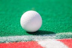 Landhockeyboll som är klar för ett hörn Arkivfoton
