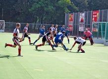 landhockeymatch Royaltyfria Foton