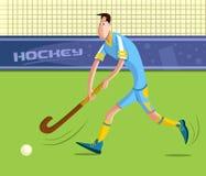 Landhockeyspelare Arkivbild