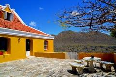 Landhouse在库拉索岛 免版税库存图片