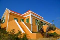 Landhouse在库拉索岛 免版税图库摄影