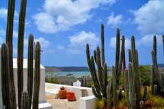 Landhouse в Curacao Стоковые Фотографии RF