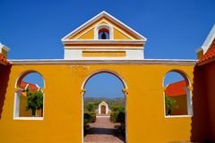 Landhouse in Curacao Stock Images