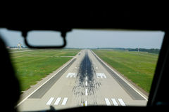 Landing. At the Hungarian International airport, Ferihegy Royalty Free Stock Images