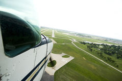 Landing A Plane Royalty Free Stock Image