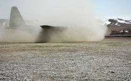 Landing in Afghanistan royalty free stock photography