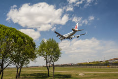 A Landing Air China's plane Royalty Free Stock Image