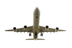 Landing air plane Stock Images