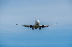Landing. Aircraft on landing approach Royalty Free Stock Image