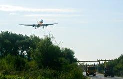 Landing aircraft, Montenegro Stock Image