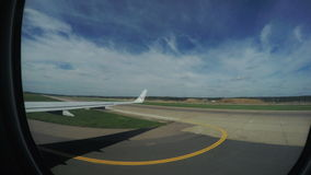 Landing of aircraft stock footage
