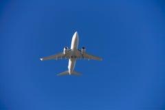 Landing airplane Stock Photo
