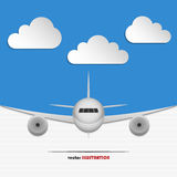 Landing airplane Royalty Free Stock Photography