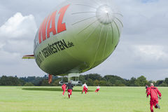 Landing of an Airship Stock Photo