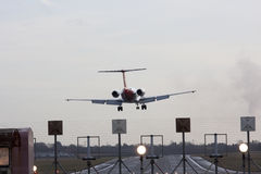 Landing approach Royalty Free Stock Images