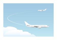 Landing approach. Vector illustration. EPS10. Opacity Stock Image