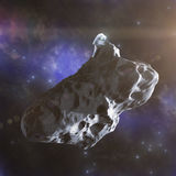 Landing on an asteroid Royalty Free Stock Photography