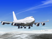 Landing away from airport Stock Images