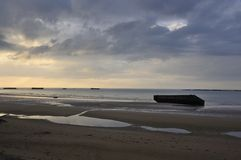 Landing Beaches At Arromanches, France Royalty Free Stock Images
