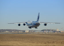 Landing of the big airliner. Royalty Free Stock Photography